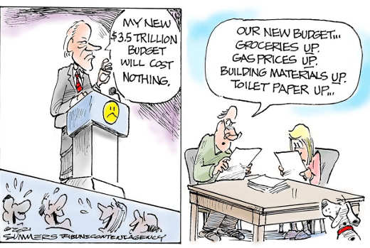 joe biden 3.5 trillion budget costs nothing inflation up