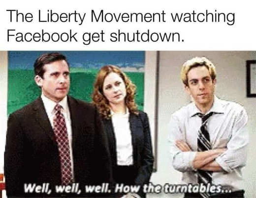 liberty movement watching facebook get shutdown well turntables office