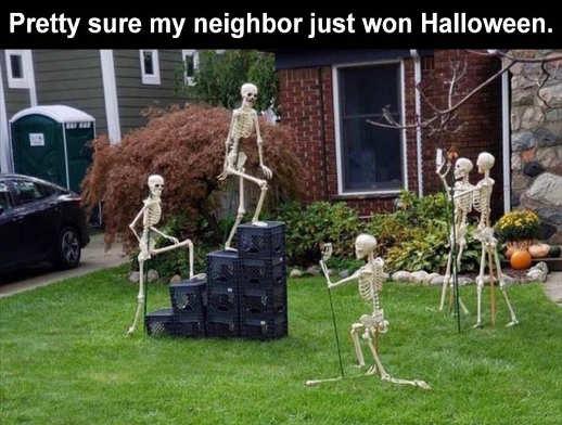 neighbor won internet crate challenge skeletons iphones