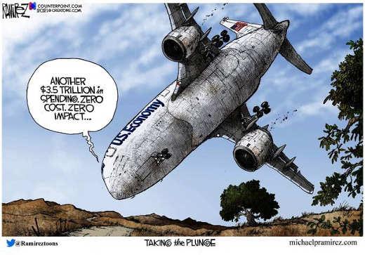 plane crash taking plunge us economy trillions 0 cost