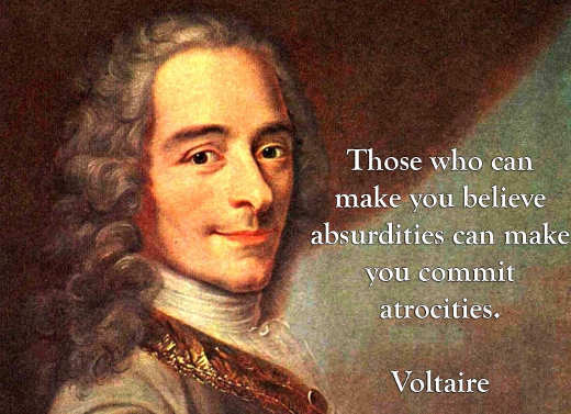 quote those make believe absurdities can make you commit atrocities