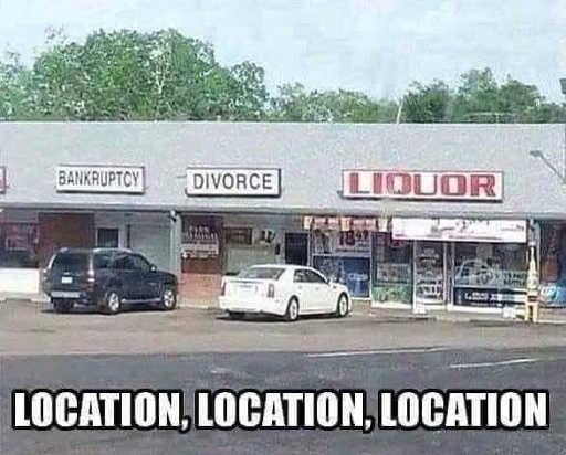 stores bankruptcy divorce liquor location location