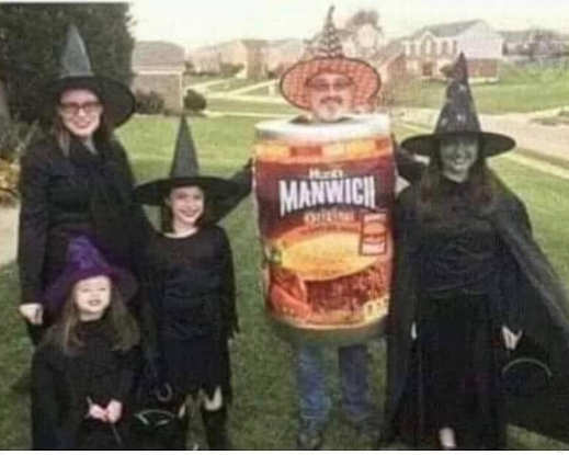 witches family costumes manwich halloween
