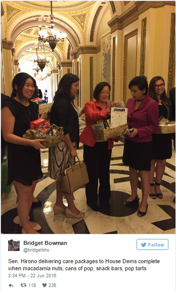 Democratic Sit In Care Packages from Senators