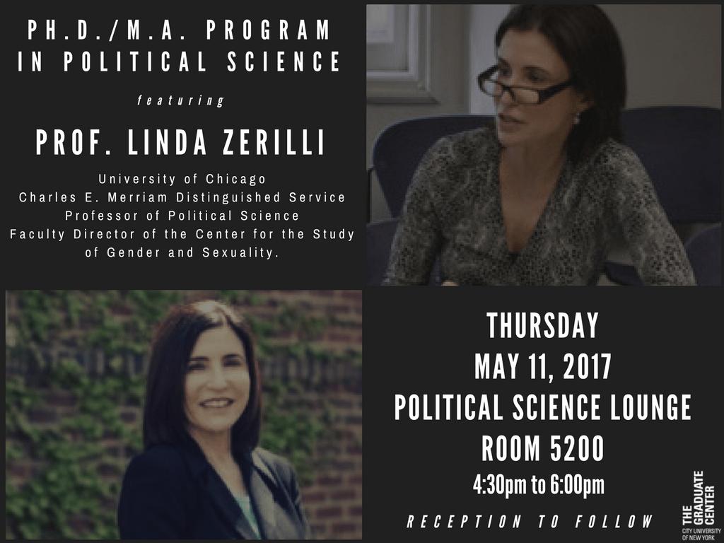 Talk Featuring Professor Linda Zerilli - Political Science
