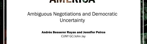"""Comparative Politics Workshop: Andrés Besserer, """"Gang Truces in Central America. Ambiguous negotiations and democratic uncertainty"""" Wednesday, March 11, 4:25pm"""