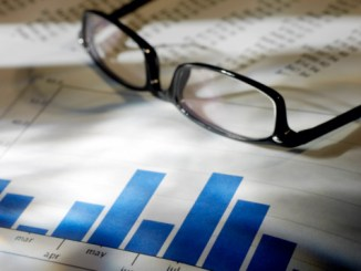 Financial data and eyeglasses