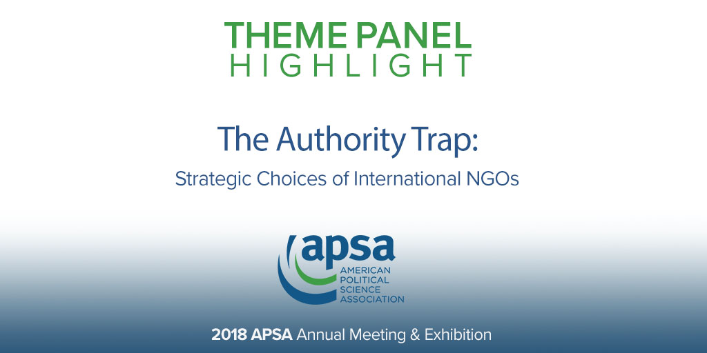 The Authority Trap Strategic Choices of International NGOs