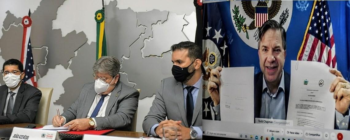 """""""Somos todos Paraíba"""", diz embaixador americano ao assinar memorando de entendimento com governo paraibano"""