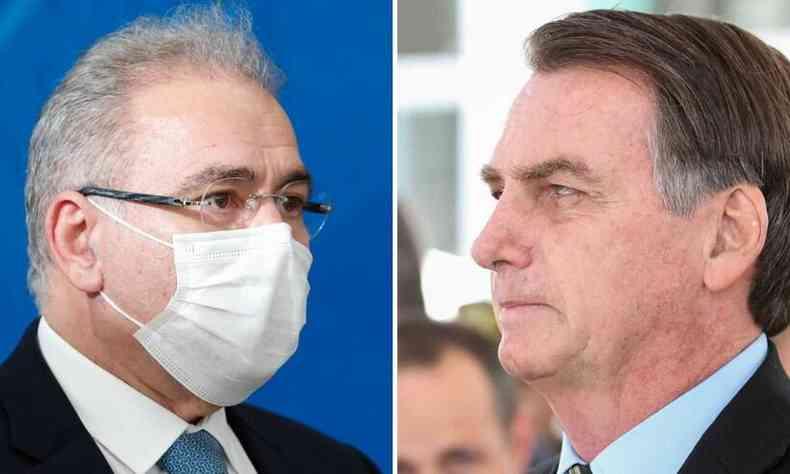 Queiroga e Bolsonaro: tem algo em descompasso aí