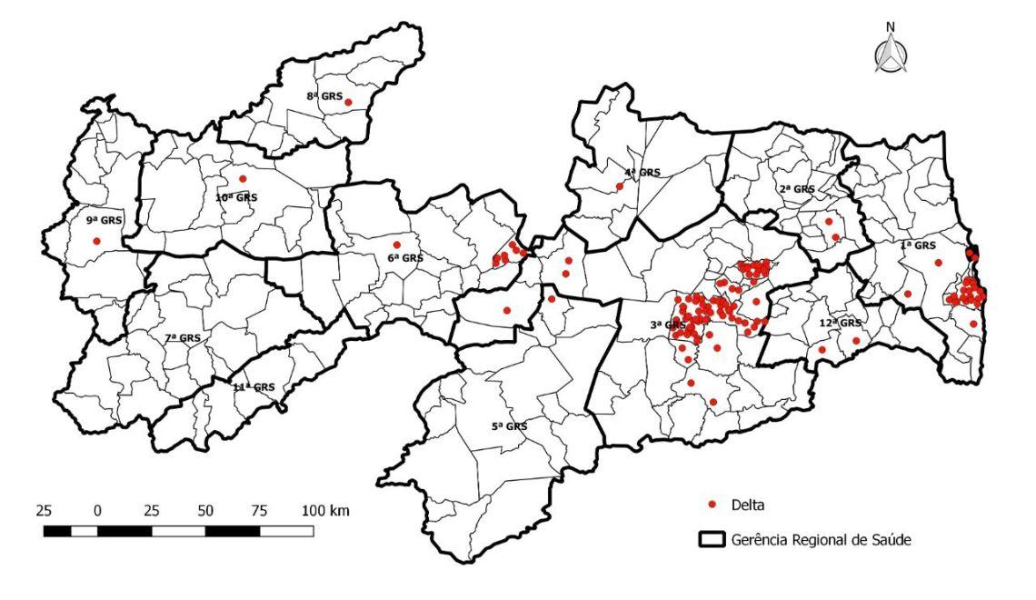 100 novos casos da variante Delta são confirmados na Paraíba. Saiba qual é o município mais afetado