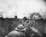 Trincheira durante a Batalha de La Lys