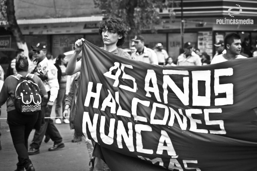 Marcha conmemorativa a 45 años del Halconazo | Fotografía: Mónica Olivares.