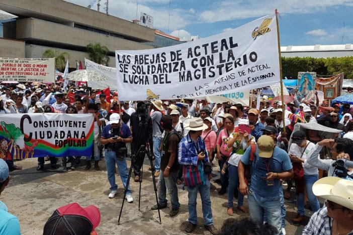El apoyo a la CNTE en Chiapas. Foto: Isaín Mandujano