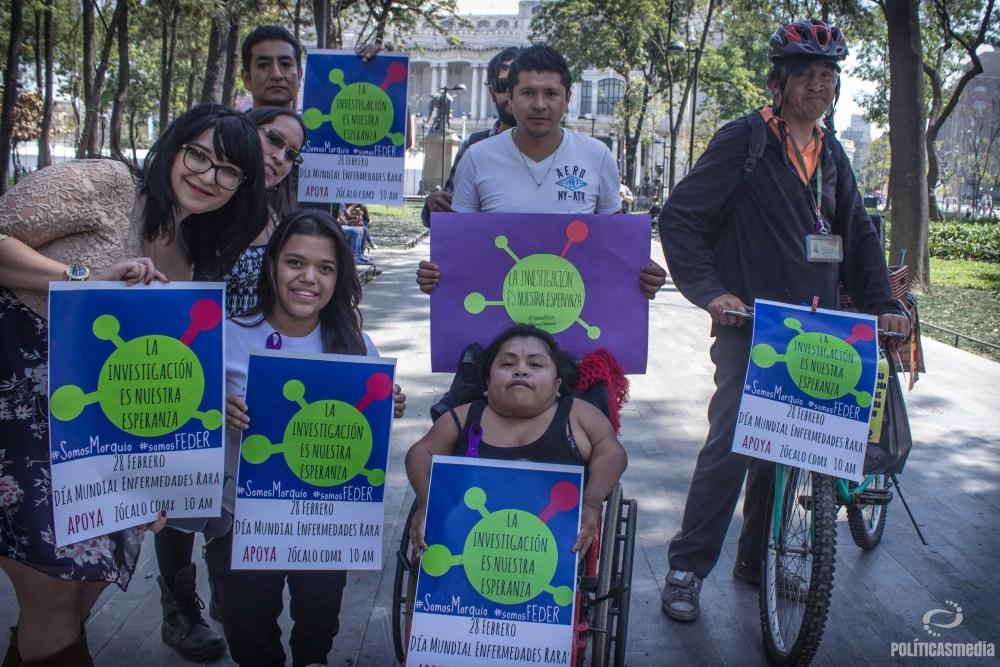 Campaña por el Día Mundial de las Enfermedades Raras. Fotografía: Mónica Olivares | Políticas Media.