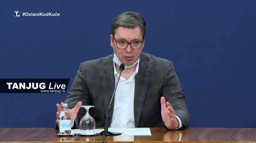 Vučić: Moguća izolacija opština i gradova koji su žarišta koronavirusa, počinju masovna testiranja (VIDEO)