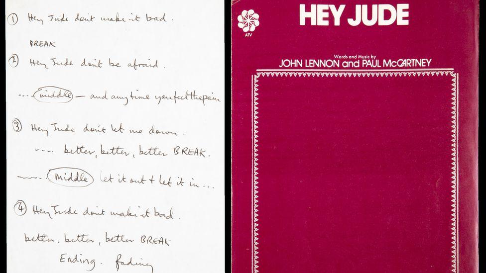 Rukom pisane beleške Bitlsa za pesmu Hej Džud prodate za skoro milion dolara
