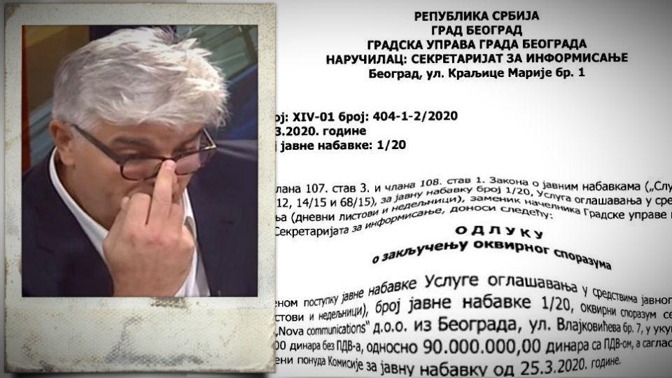 Firmi koju je osnovao Nebojša Krstić ponovo 90 miliona za oglašavanje