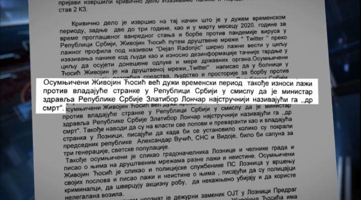 50 dana u zatvoru zbog vređanja SNS i pisanja o (ne)uslovima u bolnici