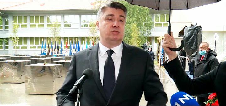 """Milanović napustio godišnjicu akcije """"Bljesak"""" zbog natpisa """"Za dom spremni"""""""
