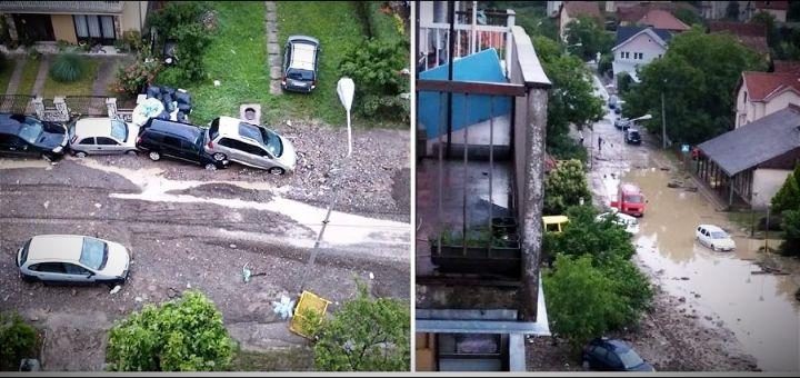 Jako nevreme pogodilo jug Srbije i Šumadiju, bujica nosila vozila u Trsteniku