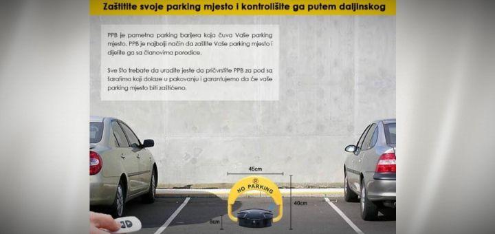 REŠENJE ZA VAŠE PARKING MESTO – PAMETNA PARKING BLOKADA: Poručite odmah, zaštitite svoje parking mesto!