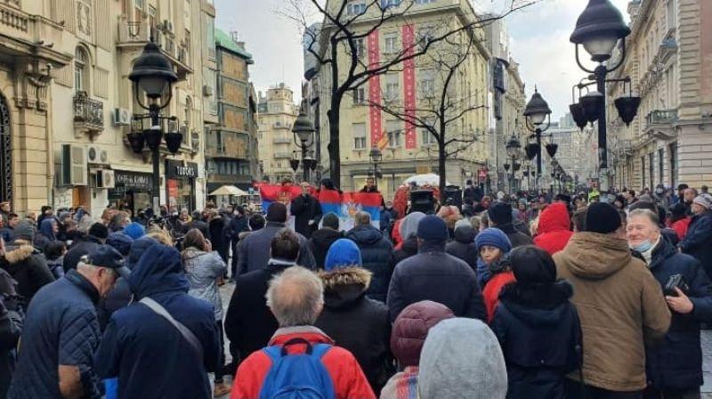 Protest ispred SANU: Da ponovimo još jednom, Kosovo i Metohija su Srbija