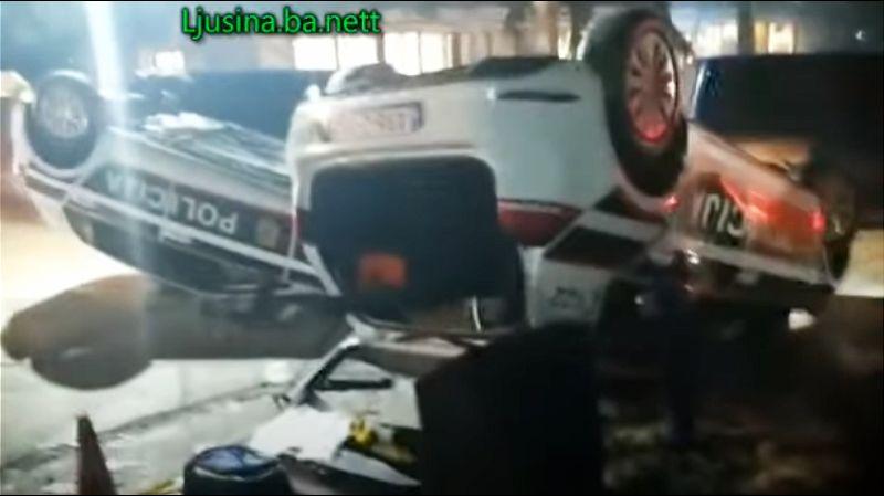 U sukobu migranata i policije u Sarajevu oštećeno 20 vozila MUP-a (VIDEO)