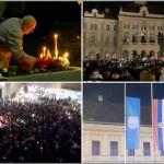 Novi Sad peva Balaševićeve pesme, zastave na pola koplja (VIDEO)
