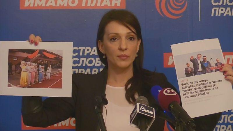Marinika Tepić: Belivukovi ljudi obezbeđivali Vučića