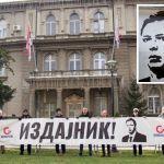 Protest Oslobođenja ispred Predsedništva, VUČIĆU OSTAVLJENE LISICE: Kad-tad će odgovarati za izdaju Kosova i Metohije