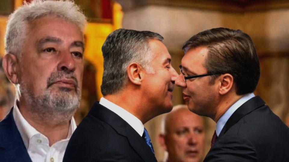 Đukanović s Vučićem u akciji rušenja Krivokapića