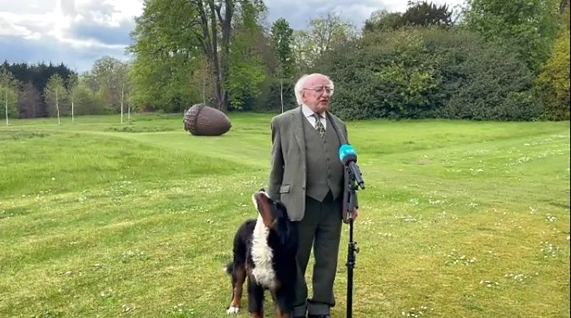 Pas ukrao šou predsedniku Irske i osvojio srca nacije (VIDEO)