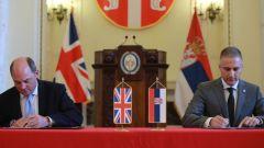Britanski ministar: Srbija i Britanija potpisale sporazum o SPREČAVANJU UTICAJA RUSIJE