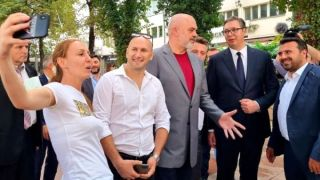 Šetnja Vučića, Zaeva i Rame centrom Skoplja, Mini Šengen sutra menja ime
