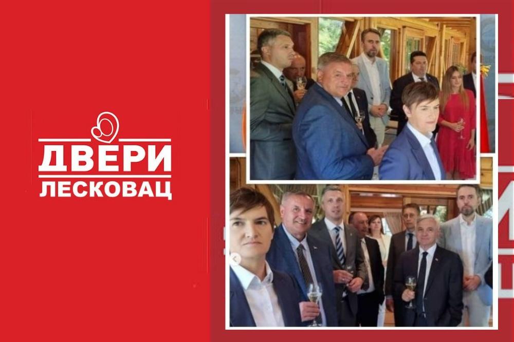 Rukovodstvo Dveri u Leskovcu podnelo ostavke zbog Boškovih poteza i ispijanja vina sa Vučićem