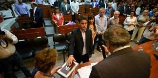 Amarilla fue detenido a la salida del Palacio Municipal de Ezeiza