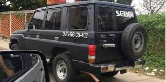 Camioneta del SEBIN
