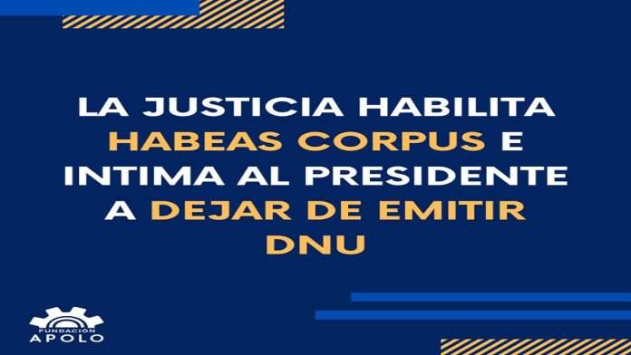 La Justicia y los DNU