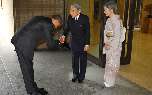 President Obama Bows To Japanese Emporer