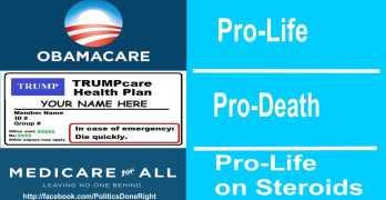 Obamacare Trumpcare Medicare For All