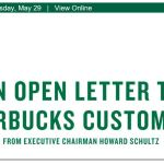 Starbucks Letter header on closing