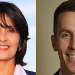 Two candidates putting themselves on the line to ride the blue wave