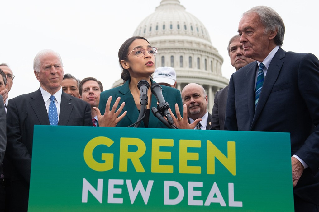Progressives Green new deal