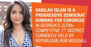 Nabilah Islam - COVID-19 forces uninsured Progressive Candidate Nabilah Islam from door to door canvassing.