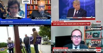 Reporter debunk Trump firehose of lies - IH President talk Walmartization / Progressive activism