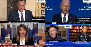 Biden slams president for Capitol insurrection, Greg Palast, Mitt Romney, Katy Tur saw it coming