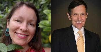 Dennis Kucinich Bayou City Waterkeeper's legal director Kristen Schlemmer & Former Mayor Congressman Presidential Candidate Dennis Kucinich