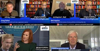 Greg Palast exposes voter suppression on video, Psaki dings GOP on defunding, Activist on Democracy