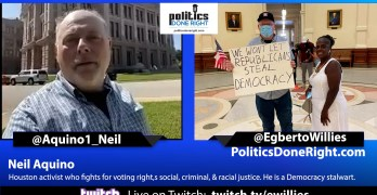 Every Texan, every American must put their body on the line for our voting rights like Neil Aquino